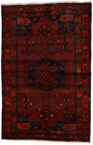 Zanjan Tapis 137X212 D'orient Fait Main Marron Foncé/Rouge Foncé (Laine, Perse/Iran)