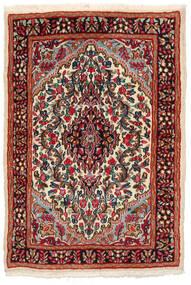 Kerman Tapis 97X141 D'orient Fait Main Noir/Rouge Foncé (Laine, Perse/Iran)