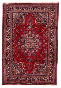 Mashad Tapis 200X294 D'orient Fait Main Rouge Foncé/Bleu Foncé (Laine, Perse/Iran)