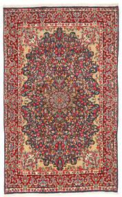 Kerman Tapis 147X240 D'orient Fait Main Gris Foncé/Rouille/Rouge (Laine, Perse/Iran)