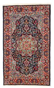 Kerman Tapis 122X208 D'orient Fait Main Rouge Foncé/Violet Foncé (Laine, Perse/Iran)