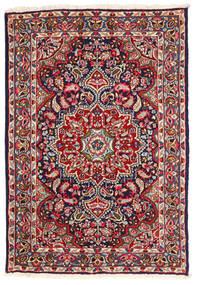 Kerman Tapis 123X180 D'orient Fait Main Violet Foncé/Rouille/Rouge (Laine, Perse/Iran)