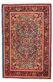 Kerman Tapis 121X185 D'orient Fait Main Rouge/Rouge Foncé (Laine, Perse/Iran)