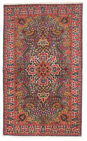 Kerman Tapis 147X245 D'orient Fait Main Noir/Rouille/Rouge (Laine, Perse/Iran)