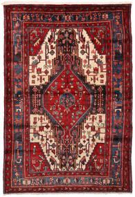 Nahavand Tapis 161X235 D'orient Fait Main Rouge Foncé (Laine, Perse/Iran)