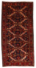 Hamadan Tapis 145X290 D'orient Fait Main Tapis Couloir Rouge Foncé/Rouille/Rouge (Laine, Perse/Iran)