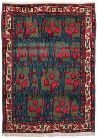Afshar Tapis 163X228 D'orient Fait Main Rouge Foncé/Bleu Foncé/Turquoise Foncé (Laine, Perse/Iran)