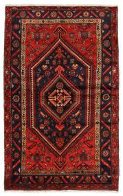 Zanjan Tapis 141X227 D'orient Fait Main Rouge Foncé/Rouille/Rouge (Laine, Perse/Iran)