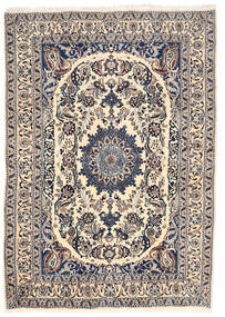 Naïn Tapis 162X228 D'orient Fait Main Gris Clair/Beige (Laine, Perse/Iran)