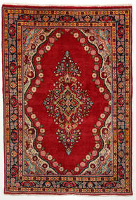Mahal Tapis 135X200 D'orient Fait Main Rouille/Rouge/Marron Foncé (Laine, Perse/Iran)