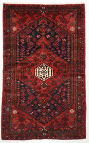 Zanjan Tapis 125X204 D'orient Fait Main Rouge Foncé/Marron Foncé (Laine, Perse/Iran)