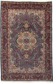 Kerman Tapis 196X299 D'orient Fait Main Rouge Foncé/Marron Foncé (Laine, Perse/Iran)