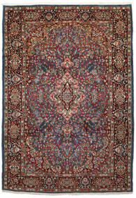 Kerman Tapis 210X303 D'orient Fait Main Marron Foncé/Rouge Foncé (Laine, Perse/Iran)