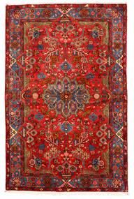 Nahavand Old Tapis 155X238 D'orient Fait Main Rouge Foncé/Marron Foncé (Laine, Perse/Iran)