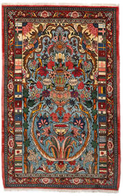 Bakhtiar Collectible Tapis 103X158 D'orient Fait Main Marron Foncé/Turquoise Foncé (Laine, Perse/Iran)