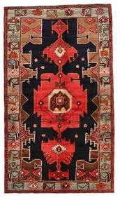Nahavand Tapis 138X236 D'orient Fait Main Rouge Foncé/Marron Clair (Laine, Perse/Iran)