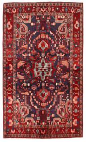 Nahavand Tapis 143X244 D'orient Fait Main Rouge Foncé/Bleu Foncé (Laine, Perse/Iran)
