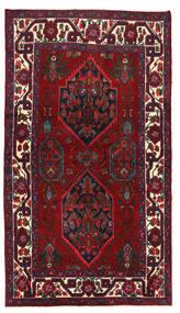 Asadabad Tapis 133X235 D'orient Fait Main Rouge Foncé/Noir (Laine, Perse/Iran)