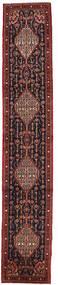 Senneh Tapis 61X341 D'orient Fait Main Tapis Couloir Rouge Foncé/Marron (Laine, Perse/Iran)