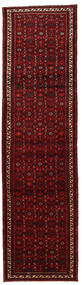 Hosseinabad Tapis 79X307 D'orient Fait Main Tapis Couloir Rouge Foncé (Laine, Perse/Iran)