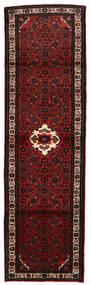 Hosseinabad Tapis 85X319 D'orient Fait Main Tapis Couloir Marron Foncé/Rouge Foncé (Laine, Perse/Iran)
