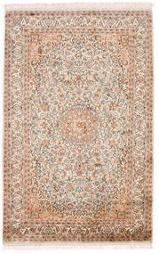 Cachemire Pure Soie Tapis 98X152 D'orient Fait Main Beige/Marron Foncé (Soie, Inde)
