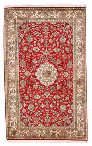 Cachemire Pure Soie Tapis 93X152 D'orient Fait Main Marron Foncé/Blanc/Crème (Soie, Inde)