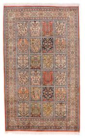 Cachemire Pure Soie Tapis 93X155 D'orient Fait Main Beige/Rouge Foncé (Soie, Inde)