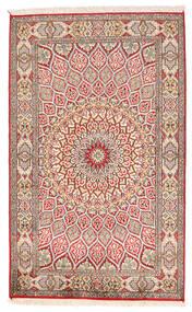 Cachemire Pure Soie Tapis 94X150 D'orient Fait Main Beige/Gris Clair (Soie, Inde)