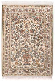 Cachemire Pure Soie Tapis 65X89 D'orient Fait Main Gris Clair/Blanc/Crème (Soie, Inde)