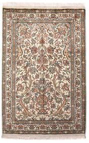 Cachemire Pure Soie Tapis 64X96 D'orient Fait Main Gris Clair/Beige (Soie, Inde)