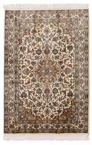 Cachemire Pure Soie Tapis 64X93 D'orient Fait Main Beige/Marron (Soie, Inde)