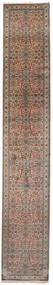 Cachemire Pure Soie Tapis 79X462 D'orient Fait Main Tapis Couloir Marron Foncé/Marron (Soie, Inde)