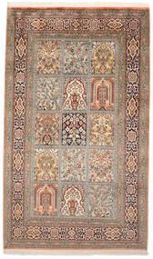 Cachemire Pure Soie Tapis 95X160 D'orient Fait Main Marron/Marron Foncé (Soie, Inde)