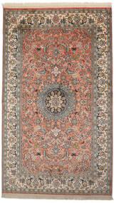Cachemire Pure Soie Tapis 93X156 D'orient Fait Main Gris Foncé/Rouge Foncé (Soie, Inde)