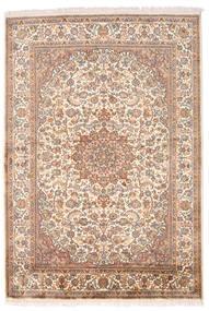 Cachemire Pure Soie Tapis 126X185 D'orient Fait Main Marron/Rose Clair (Soie, Inde)