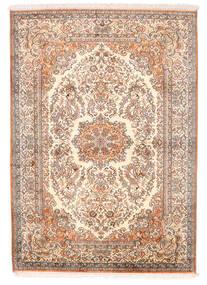 Cachemire Pure Soie Tapis 129X182 D'orient Fait Main Rose Clair (Soie, Inde)