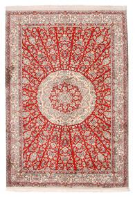 Cachemire Pure Soie Tapis 129X188 D'orient Fait Main Gris Clair/Beige (Soie, Inde)