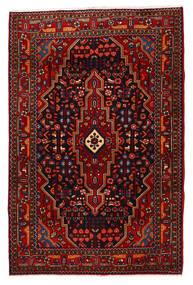 Nahavand Tapis 118X180 D'orient Fait Main Rouge Foncé/Rouge (Laine, Perse/Iran)