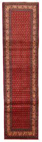 Sarough Mir Tapis 74X292 D'orient Fait Main Tapis Couloir Rouge Foncé/Rouille/Rouge (Laine, Perse/Iran)