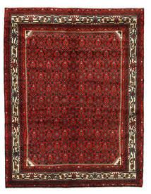 Hosseinabad Tapis 146X190 D'orient Fait Main Rouge Foncé/Marron Foncé (Laine, Perse/Iran)