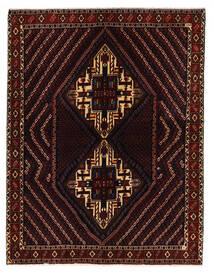 Afshar/Sirjan Tapis 152X198 D'orient Fait Main Rouge Foncé (Laine, Perse/Iran)