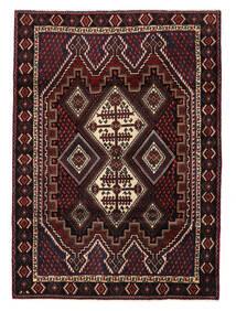 Afshar/Sirjan Tapis 120X166 D'orient Fait Main Rouge Foncé (Laine, Perse/Iran)