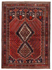 Afshar/Sirjan Tapis 153X210 D'orient Fait Main Rouge Foncé/Marron Foncé (Laine, Perse/Iran)