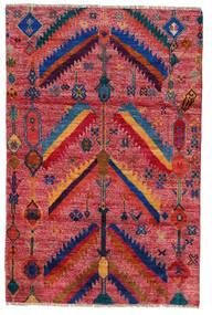 Moroccan Berber - Afghanistan Tapis 120X180 Moderne Fait Main Rouge Foncé/Rouge (Laine, Afghanistan)