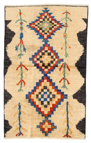 Moroccan Berber - Afghanistan Tapis 115X183 Moderne Fait Main Beige/Jaune/Marron Clair (Laine, Afghanistan)