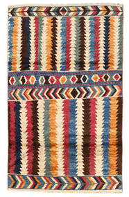 Moroccan Berber - Afghanistan Tapis 110X180 Moderne Fait Main Beige/Marron Foncé (Laine, Afghanistan)