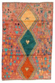 Moroccan Berber - Afghanistan Tapis 114X175 Moderne Fait Main Rouge/Orange (Laine, Afghanistan)