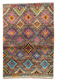 Moroccan Berber - Afghanistan Tapis 89X130 Moderne Fait Main Marron Clair/Marron Foncé (Laine, Afghanistan)