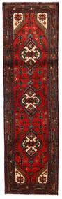 Hamadan Tapis 79X279 D'orient Fait Main Tapis Couloir Marron Foncé/Rouille/Rouge (Laine, Perse/Iran)